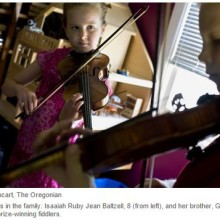 8-Year-Old Portland Girl a Fiddling Champion