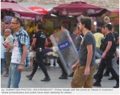 LO student lands in middle of Turkish riots