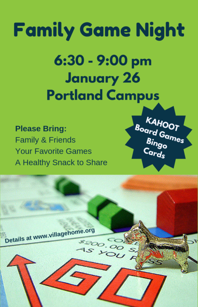 Family Game Night - Village Home - Classes & Community for