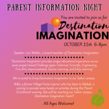Salem Parent Enrichment Series – October: Destination Imagination