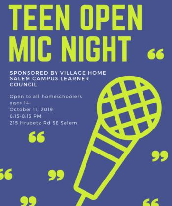 Salem Teen Open Mic Night