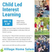 Salem Parent Enrichment – Child Led Interest Learning