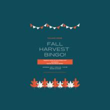 Fall Harvest B-I-N-G-O!